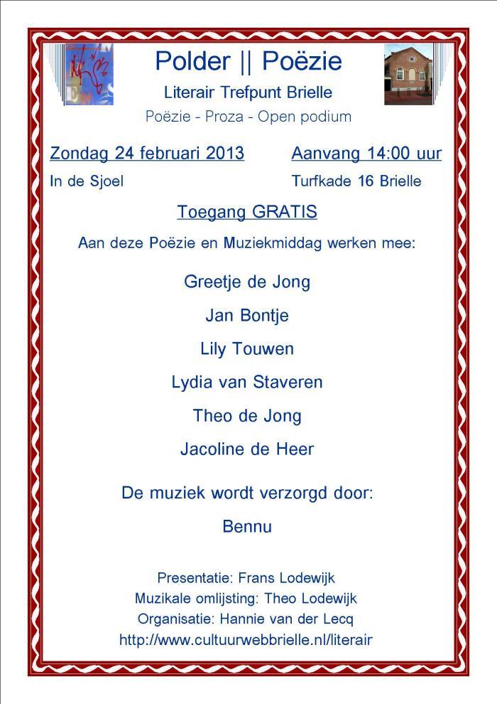 2013.02.24 Literair Trefpunt Brielle