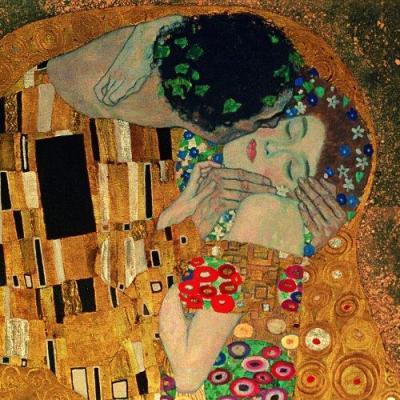 Gustav Klimt: De-Kus (detail)