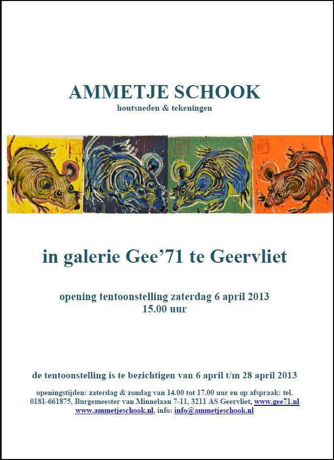 Ammetje Schook Galerie 71, 6 april 2013