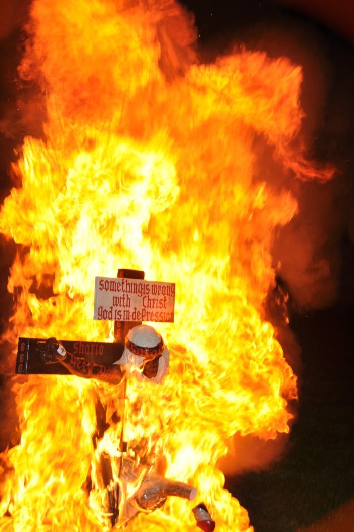 Burning Christ