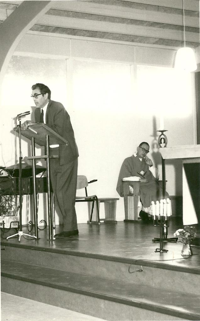 Godfried Bomans hield op 18 juni 1967 in Spijkenisse een preek op verzoek van pater Piet Wesseling
