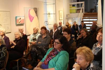 Het publiek luisterde aandachtig