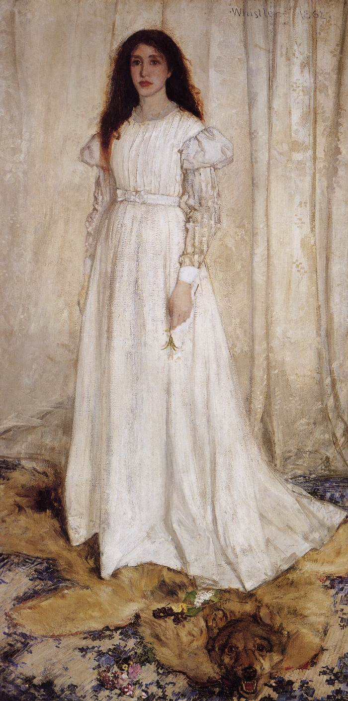 James Whistler,  Symphony in white no. 1 (The white girl) 1862