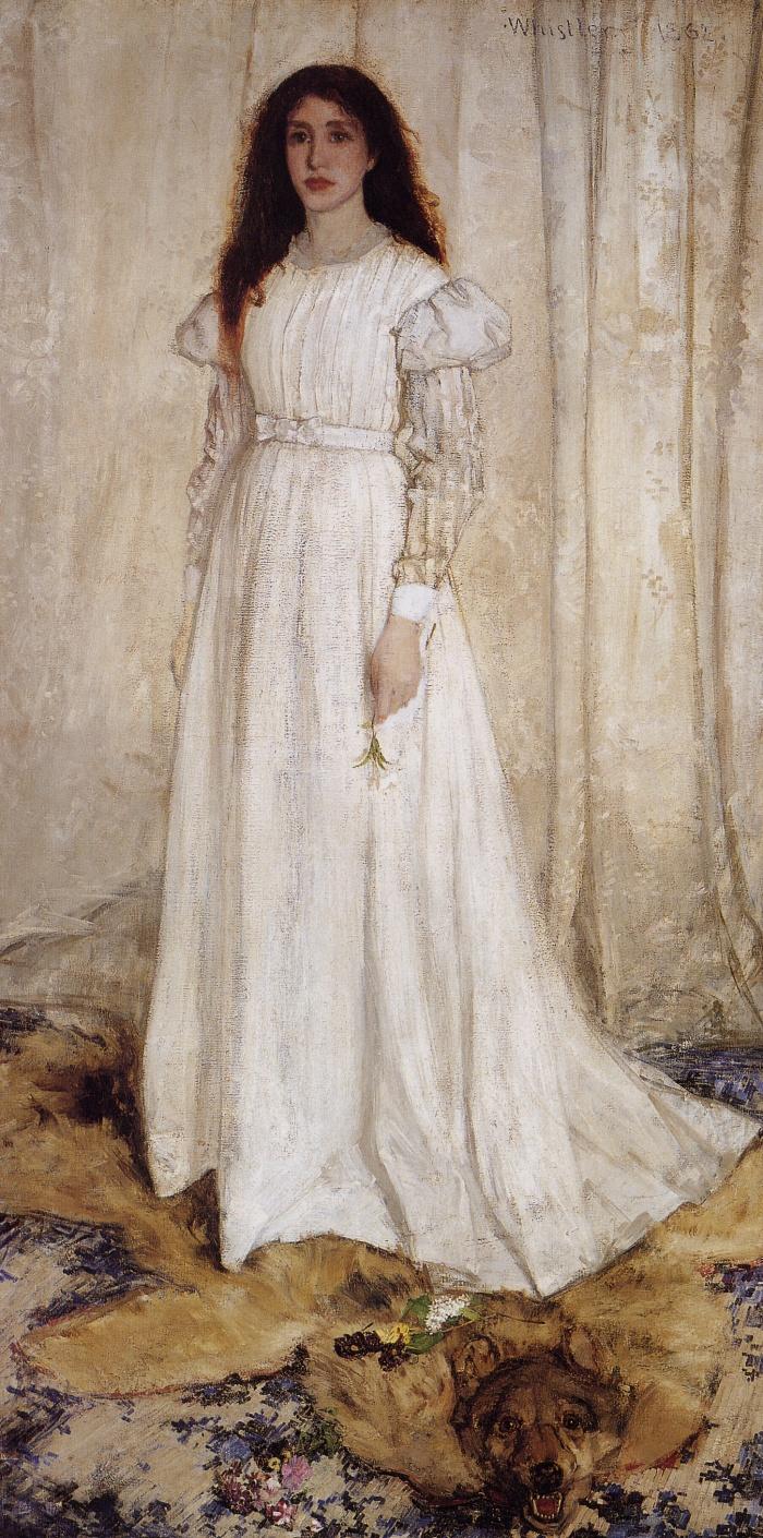 James Whistler,  Symphony in white no. 1 (The white girl) 1862