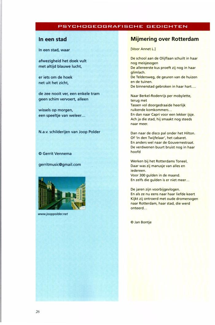 Mijmering over Rotterdam [Voor Annet L.] in Pandora Magazine jaargang 2., nummer 2