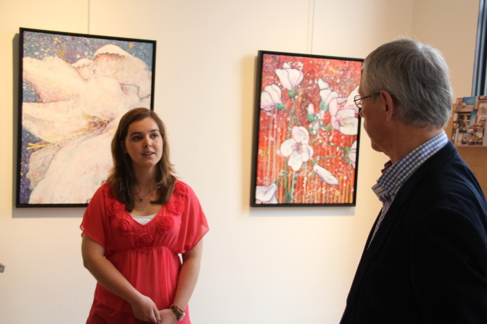 Femke van der Kleij werd geïnterviewd door presentator Jan Bontje