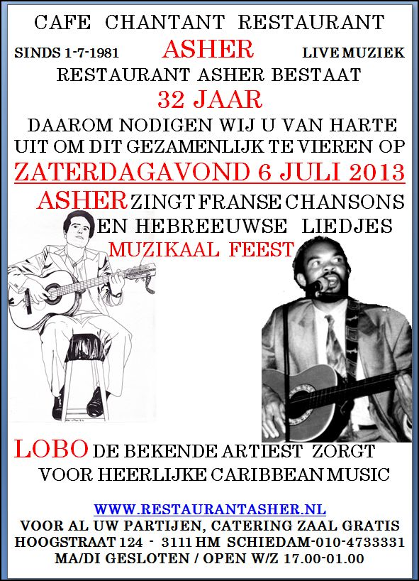 Flyer 32 jaar Asher