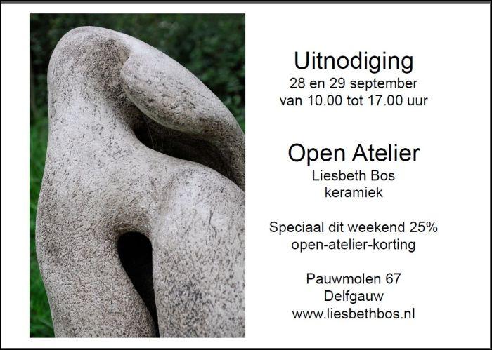 Aankondigine tentoonstrelling Liesbeth Bos 28 en 29 sep. 2013