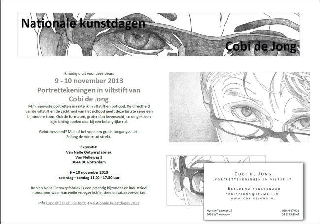 Cobi de Jong (RAR lid) exposeert nov. 2013 van Nelle