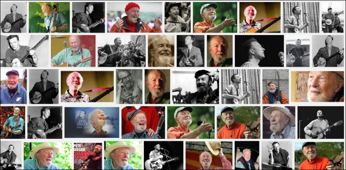 Pete Seeger collage